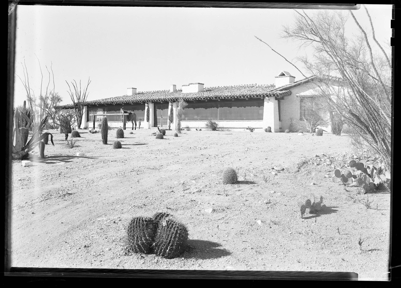 Exterior of author Walt Coburrn's house in Tucson, Arizona